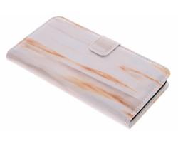 Oranje marmer booktype hoes Huawei Y6