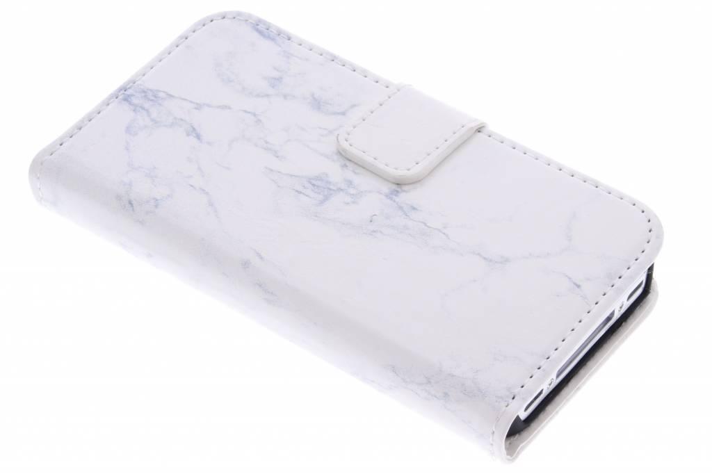 Witte marmer booktype hoes voor de iPhone 4 / 4s