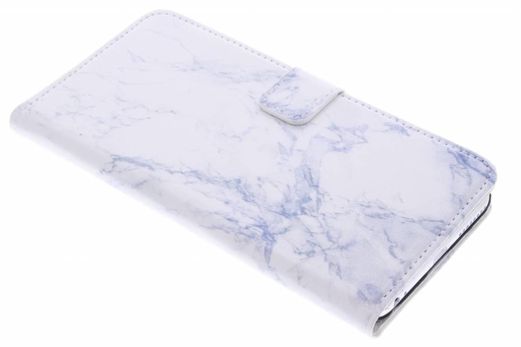 Witte marmer booktype hoes voor de iPhone 6(s) Plus