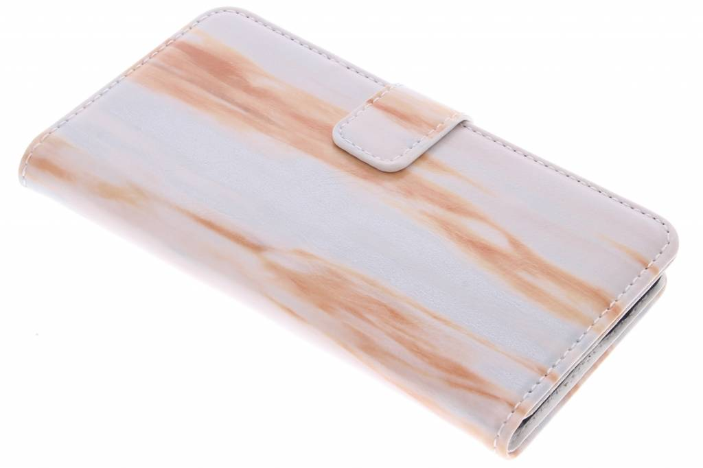 Oranje marmer booktype hoes voor de iPhone 6 / 6s