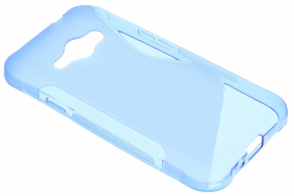 Blauw S-line TPU hoesje voor de Samsung Galaxy J1 (2016)