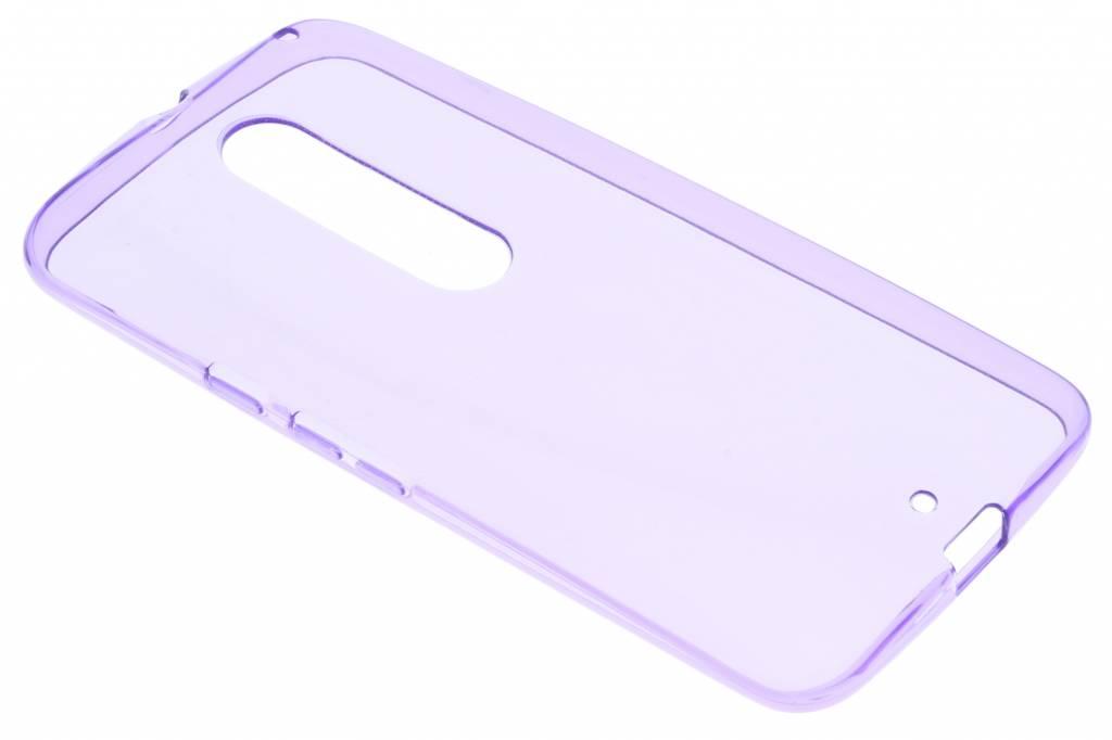 Paarse transparant gel case voor de Motorola Moto X Style