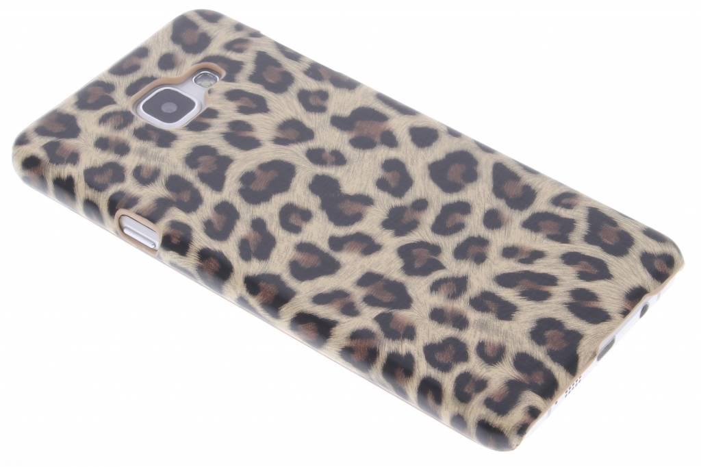 Bruin luipaard design hardcase hoesje voor de Samsung Galaxy A7 (2016)