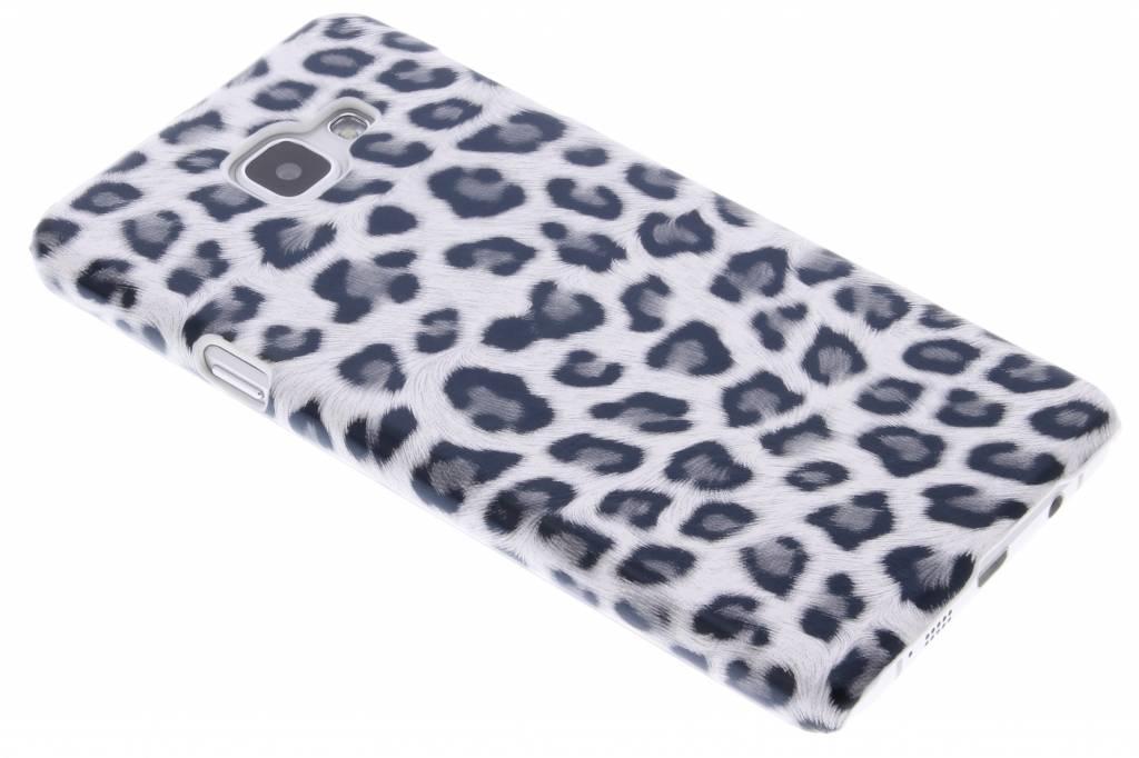 Grijs luipaard design hardcase hoesje voor de Samsung Galaxy A7 (2016)