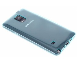 Turquoise transparant gel case Samsung Galaxy Note 4