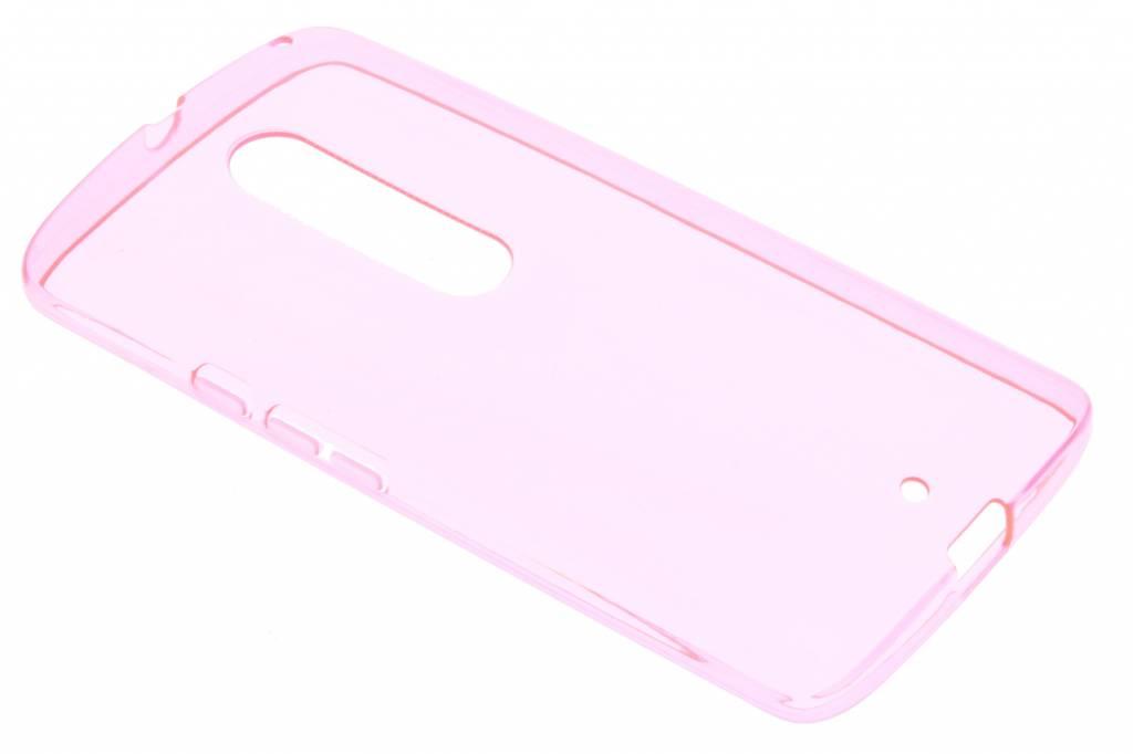 Roze transparante gel case voor de Motorola Moto X Play