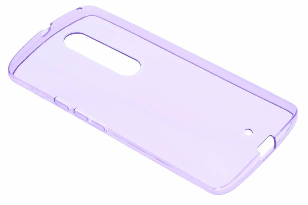 Paarse transparante gel case Motorola Moto X Play