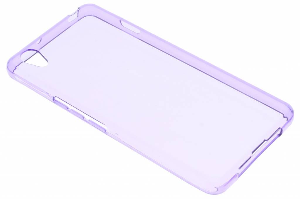 Paars transparante gel case voor de OnePlus X