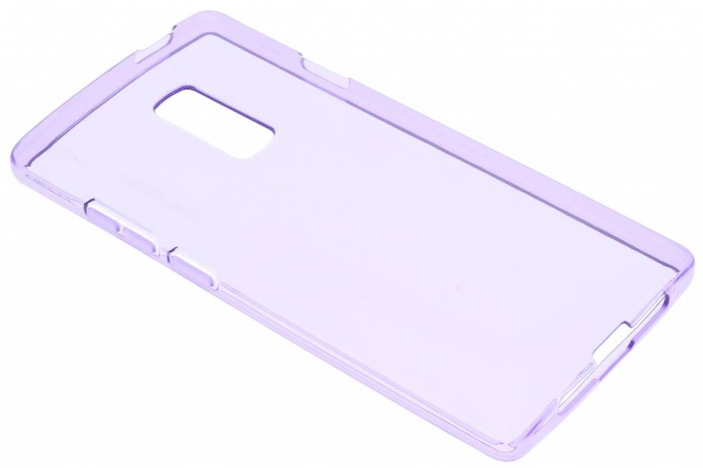 Paars transparante gel case voor de OnePlus 2