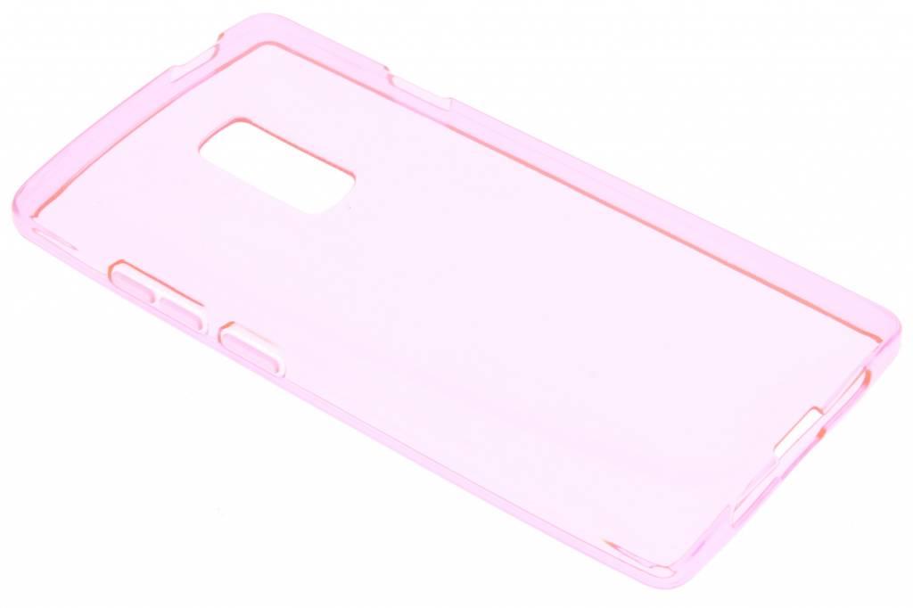 Roze transparante gel case voor de OnePlus 2