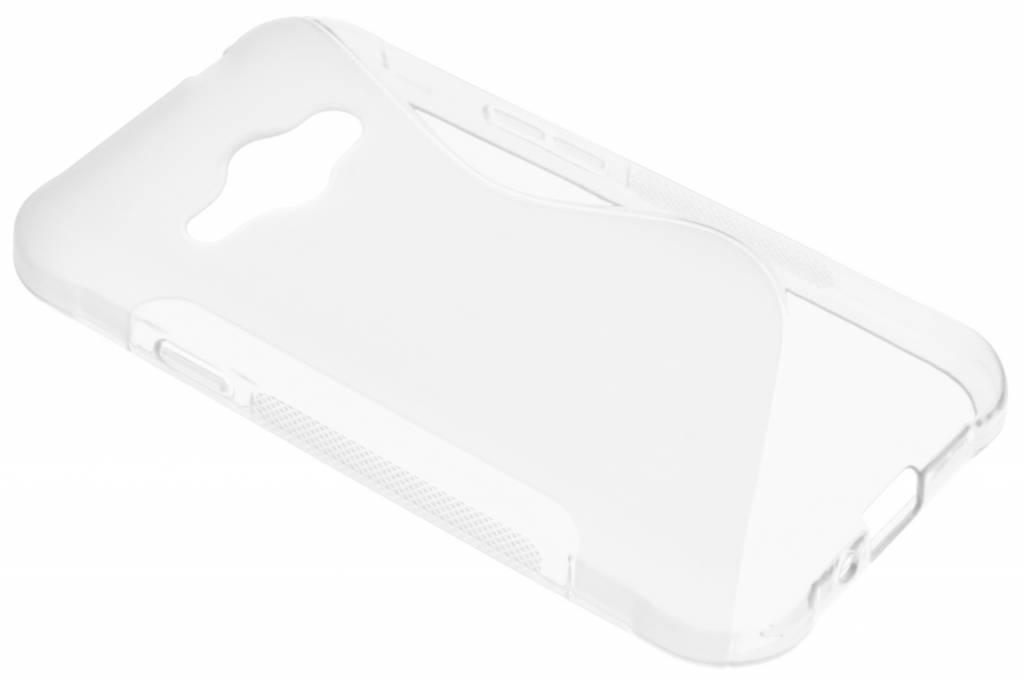 Transparant S-line TPU hoesje voor de Samsung Galaxy J1 (2016)