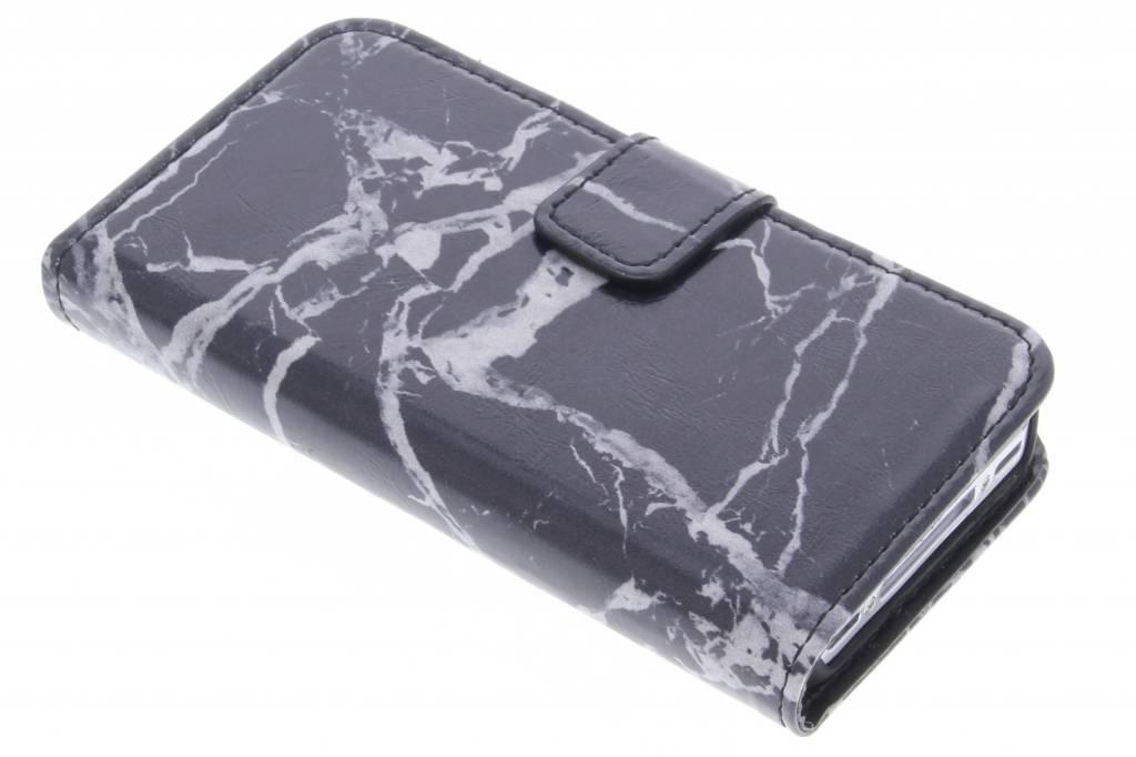 Zwarte marmer booktype hoes voor de Samsung Galaxy S3 / Neo