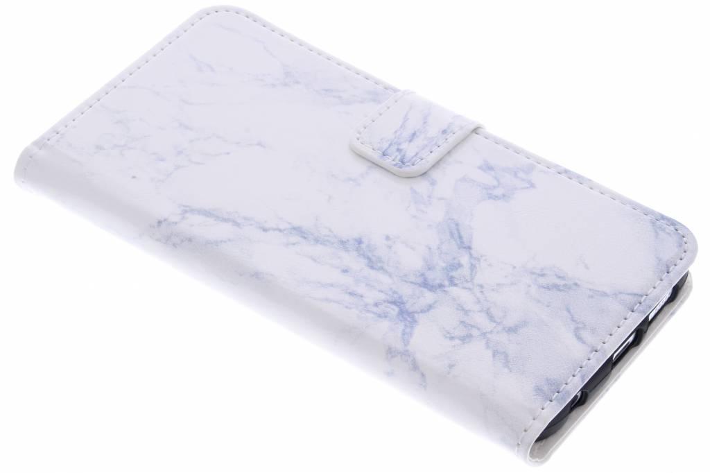 Witte marmer booktype hoes voor de Samsung Galaxy S6 Edge