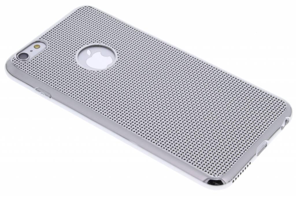 Zilver raster TPU hoesje voor de iPhone 6(s) Plus