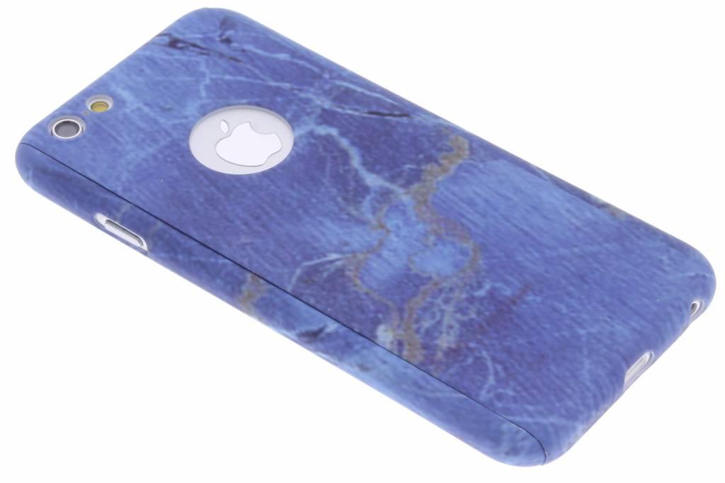 Blauw marmer hardcase hoesje front + back voor de iPhone 6 / 6s