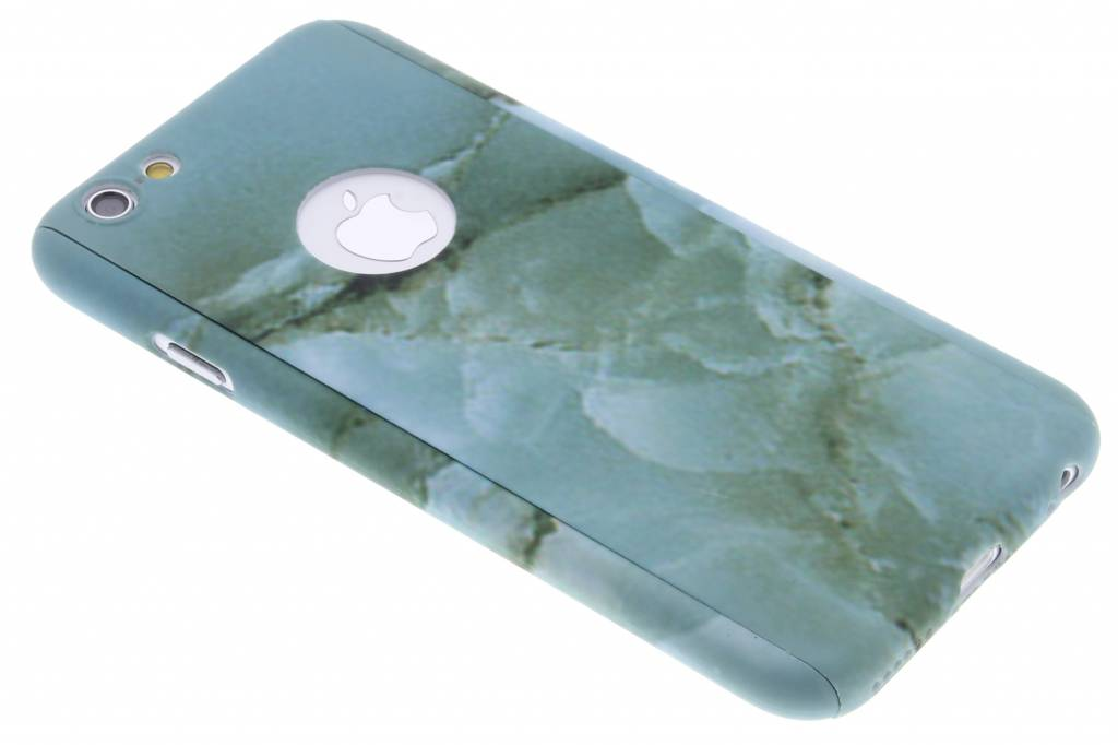 Groen marmer hardcase hoesje front + back voor de iPhone 6 / 6s