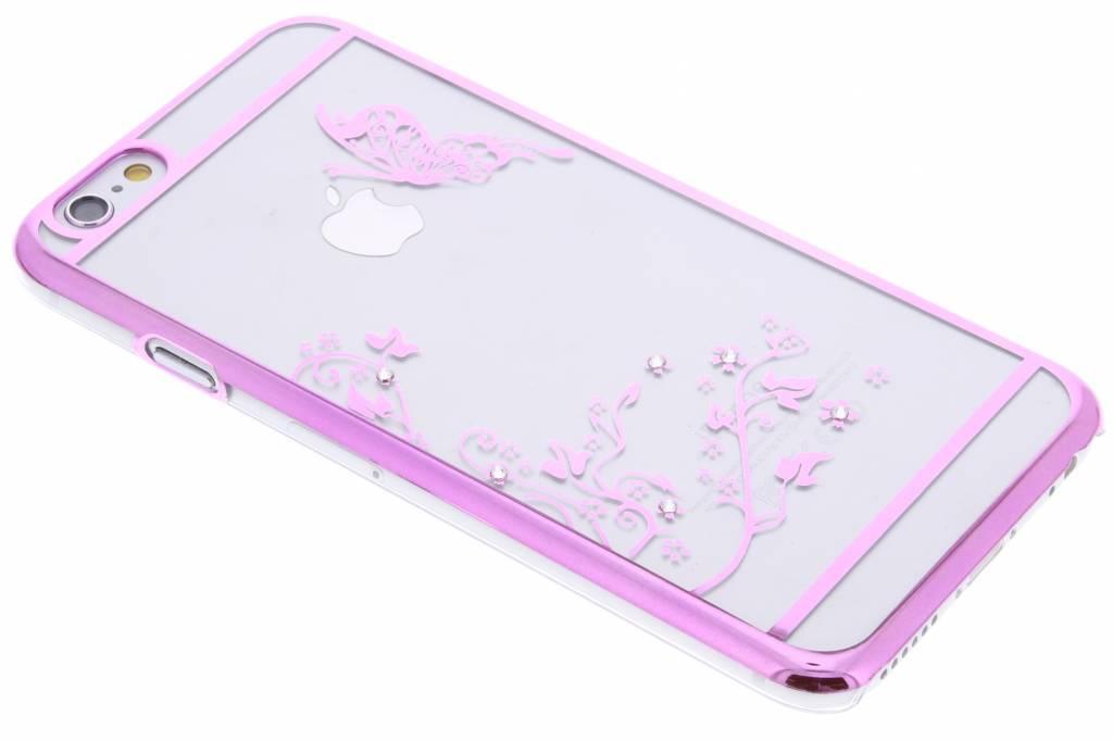 Roze transparant vlinder design hardcase hoesje voor de iPhone 6 / 6s