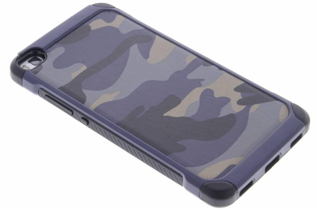 Blauw army defender hardcase hoesje voor de Huawei P8