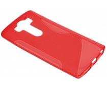 Rood S-line TPU hoesje LG G4 Pro