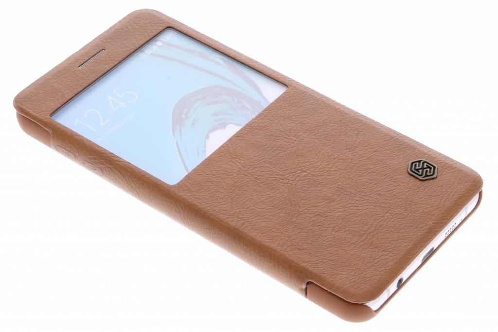 Nillkin Qin Leather Case met venster voor de Samsung Galaxy A7 (2016) - Brown