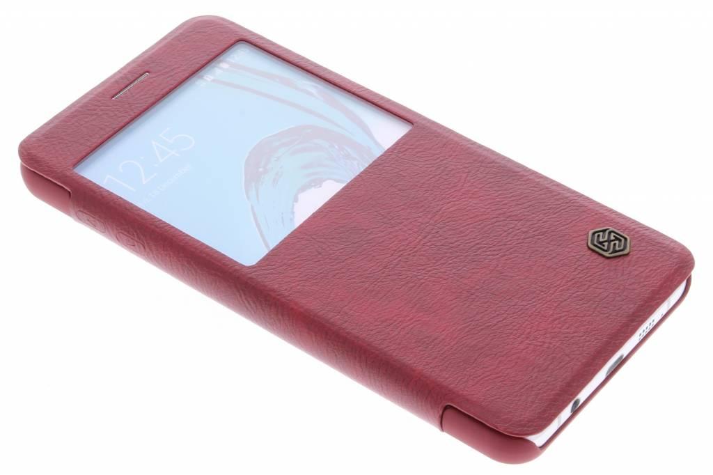 Nillkin Qin Leather Case met venster voor de Samsung Galaxy A7 (2016) - Red