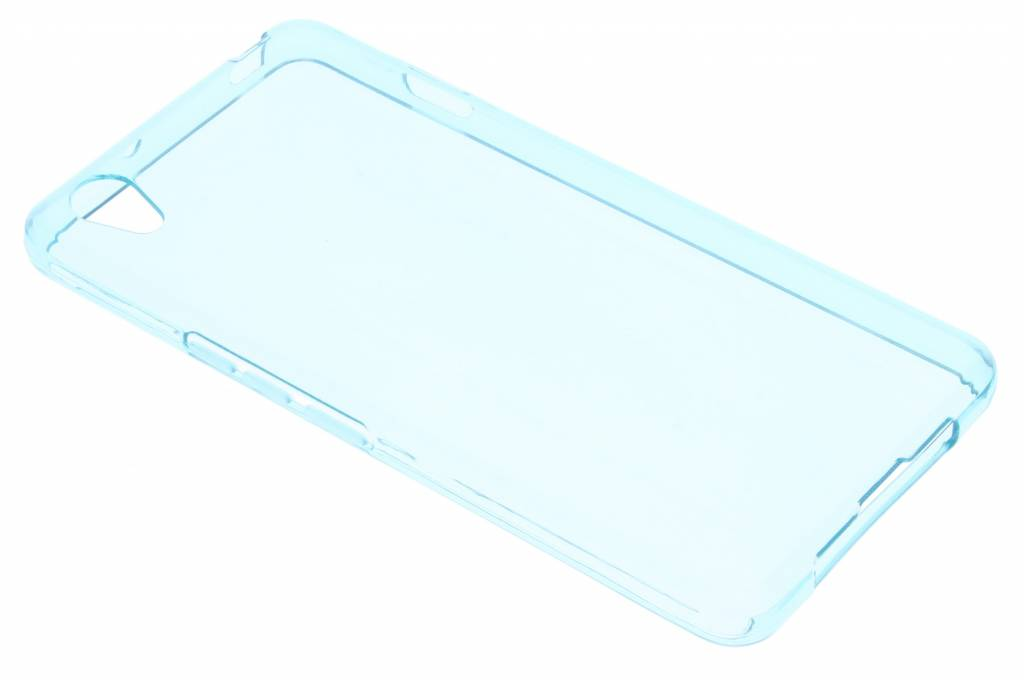 Turquoise transparante gel case voor de OnePlus X