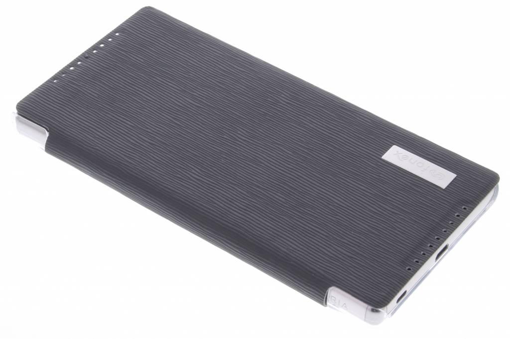 Fonex Crystal Slim Book voor de Sony Xperia X5 Premium - Black