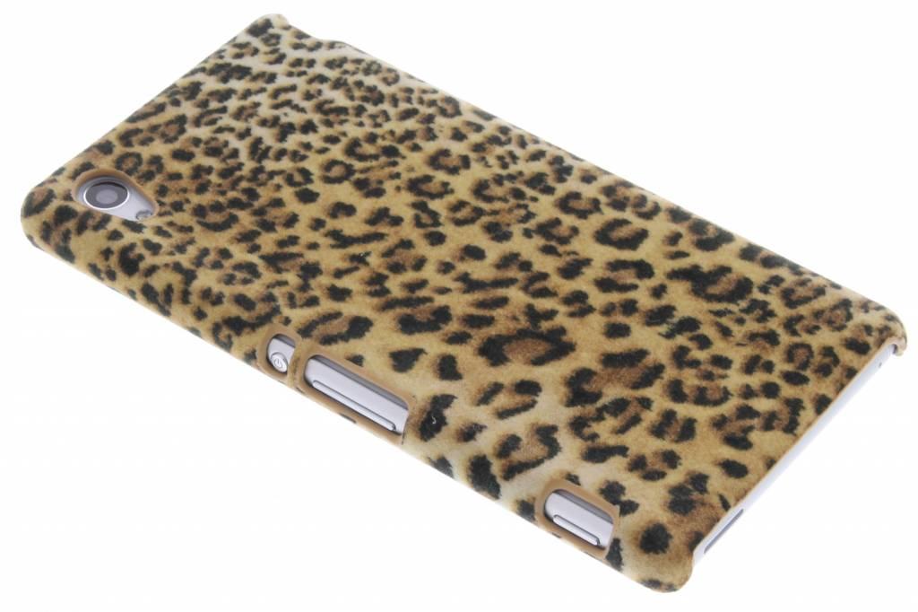 Luipaard flock hardcase hoesje voor de Sony Xperia M4 Aqua