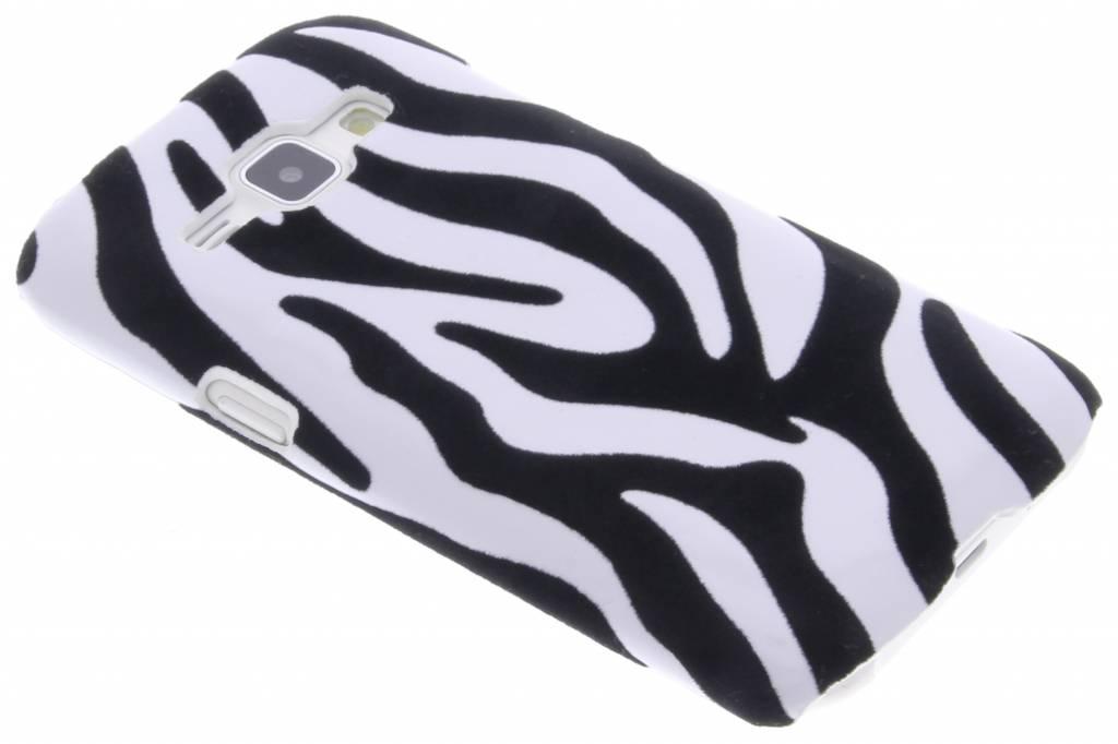 Zebra flock hardcase hoesje voor de Samsung Galaxy J1