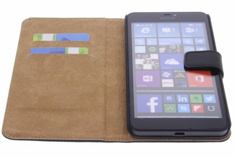 Cas De Livre De Luxe Pour Microsoft Lumia 640 Xl - Noir CM4LoEV