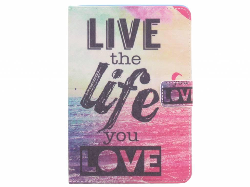 Live the life design TPU tablethoes voor de iPad Mini / 2 / 3