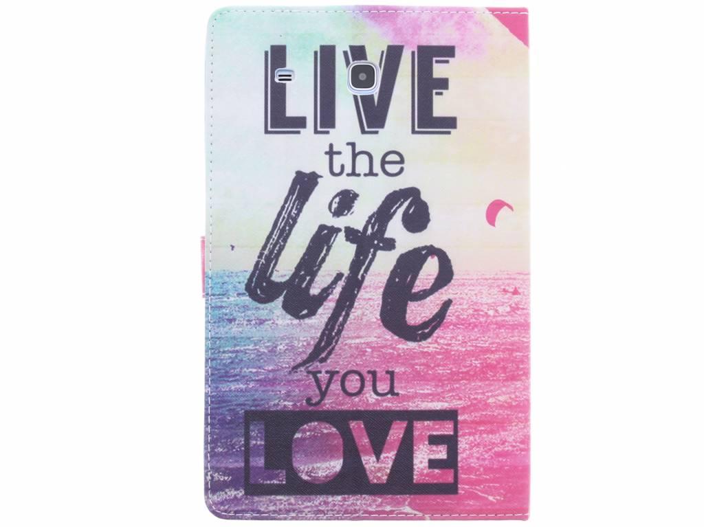Vivre La Conception De La Vie Tpu Tablethoes Voor De Samsung Galaxy Tab 9.6 E y87APSEyfa