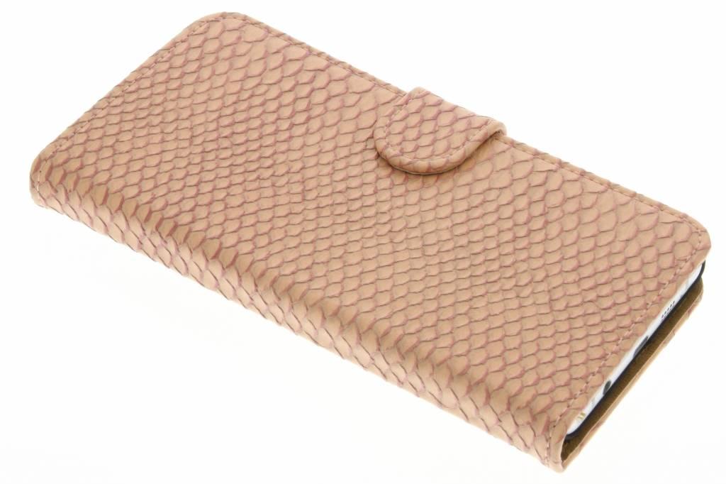 Roze slangen booktype hoes voor de Samsung Galaxy A7 (2016)