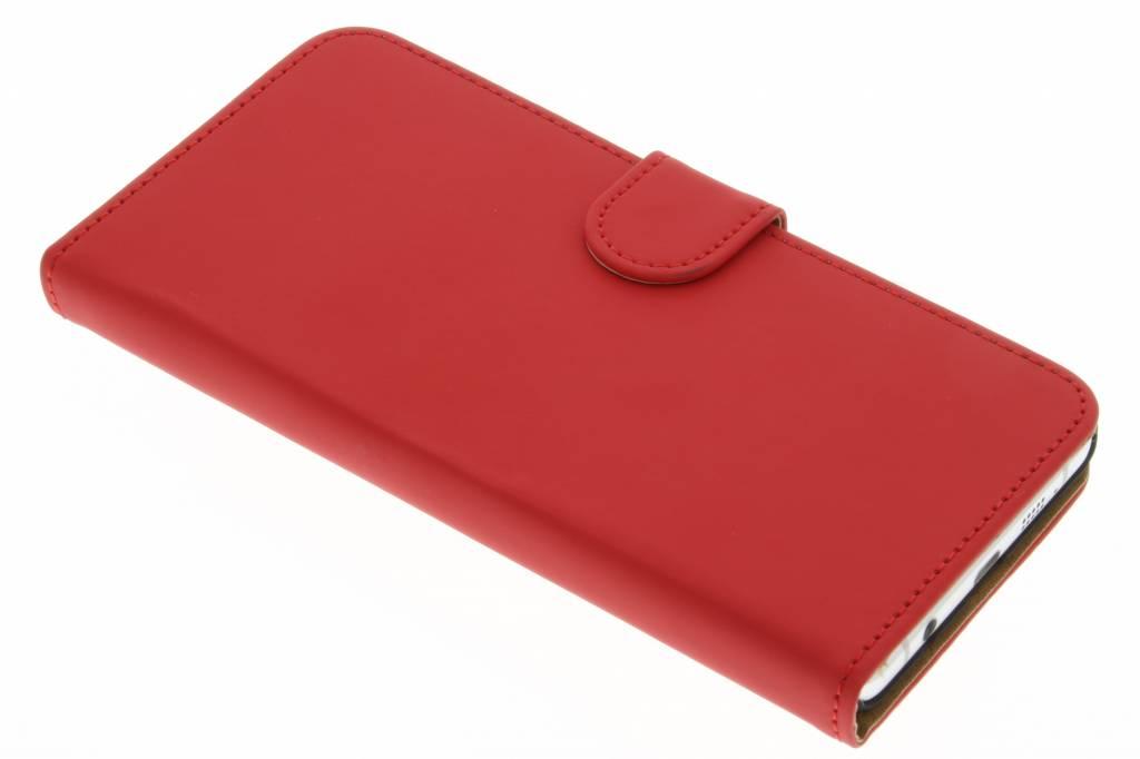 Rode effen booktype hoes voor de Samsung Galaxy A7 (2016)