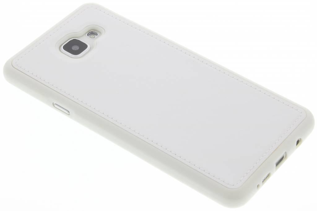 Witte lederen TPU case voor de Samsung Galaxy A7 (2016)