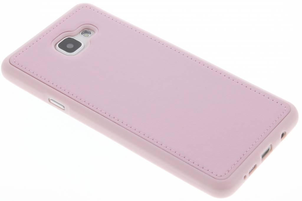 Roze lederen TPU case voor de Samsung Galaxy A7 (2016)
