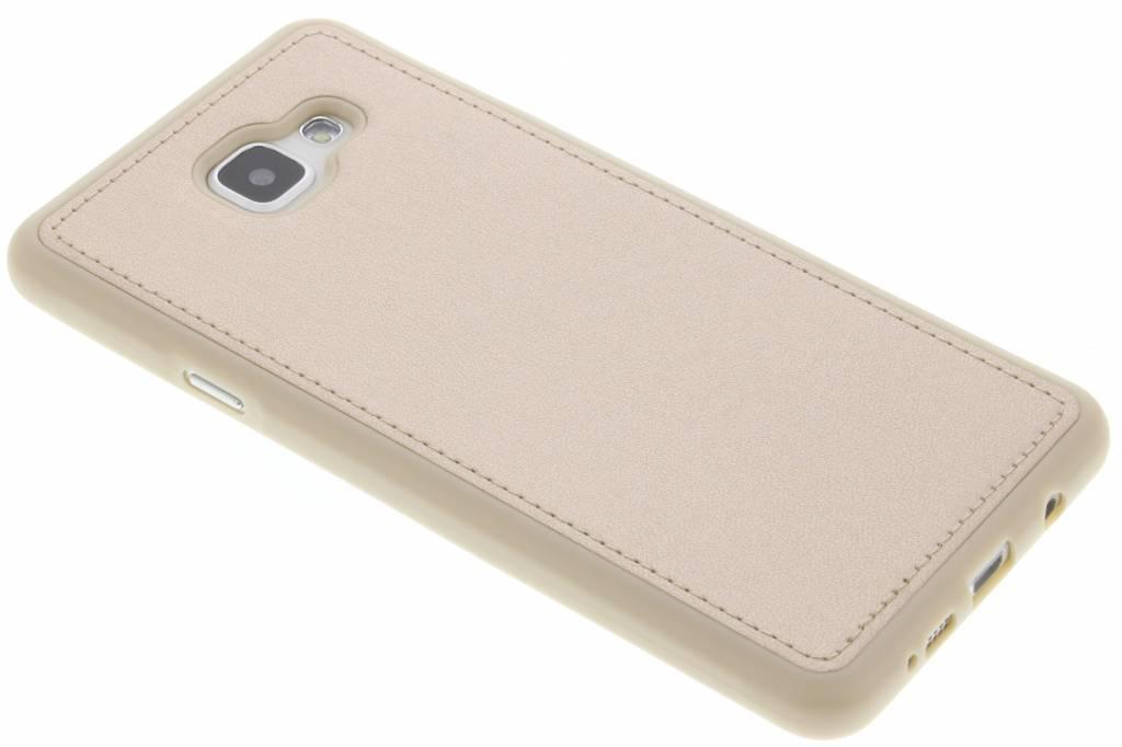 Gouden metallic lederen TPU case voor de Samsung Galaxy A7 (2016)