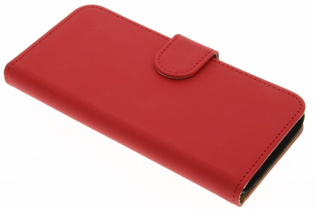 Rode effen booktype hoes voor de Samsung Galaxy S7