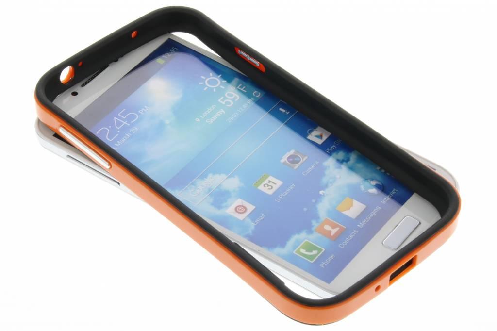 Oranje bumper voor de Samsung Galaxy S4