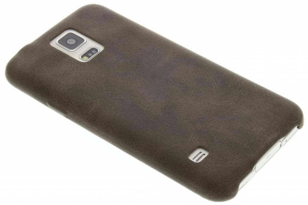 Bruine TPU Leather Casevoor de Samsung Galaxy S5 (Plus) / Neo