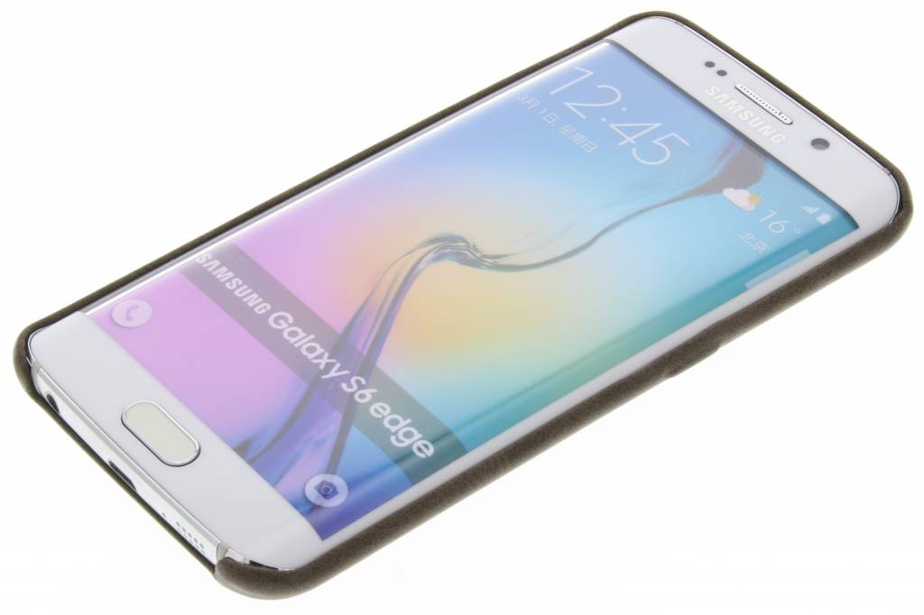 tui En Cuir Brun Pour Tpu Bord De Samsung Galaxy 6yobLlpt