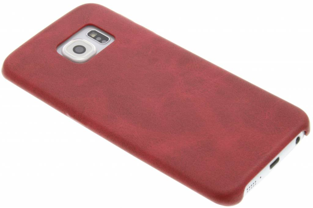 Rode TPU Leather Case voor de Samsung Galaxy S6 Edge