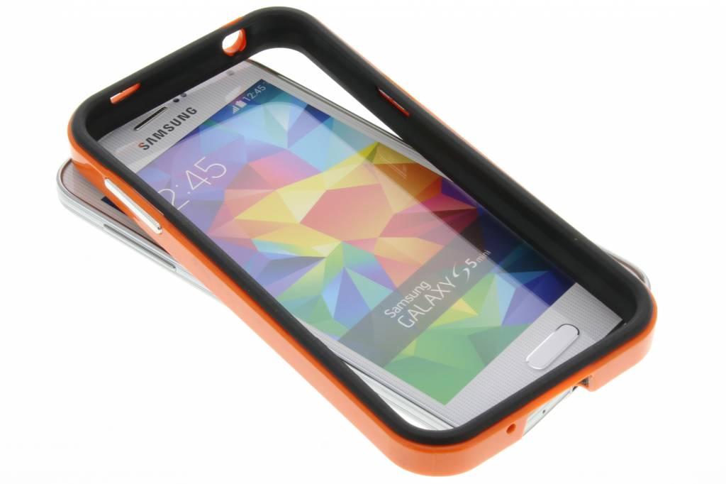 Oranje bumper voor de Samsung Galaxy S5 Mini