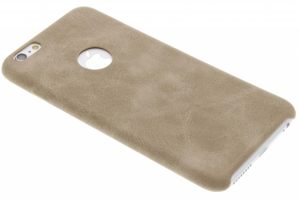 Beige TPU Leather Case voor de iPhone 6(s) Plus