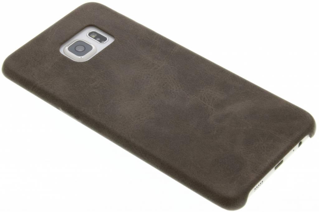 Bruine TPU Leather Case voor de Samsung Galaxy S6 Edge Plus