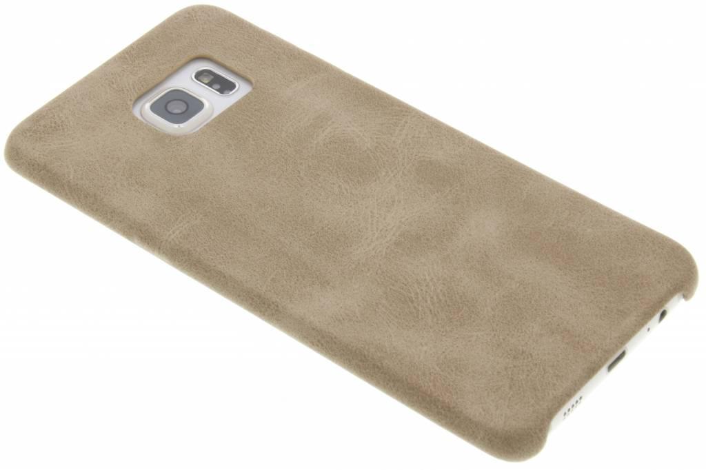 Beige TPU Leather Case voor de Samsung Galaxy S6 Edge Plus