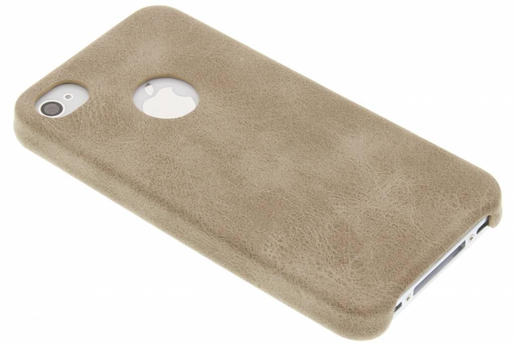 Beige TPU Leather Case voor de iPhone 4 / 4s