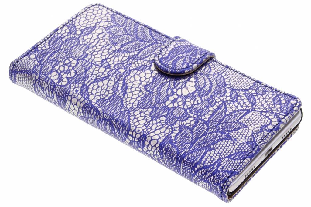 Blauwe glamour design booktype hoes voor de Huawei P8 Lite