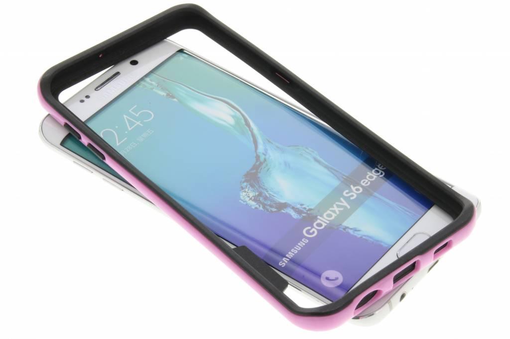 Roze bumper voor de Samsung Galaxy S6 Edge Plus