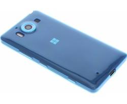 Blauw ultra thin transparant TPU hoesje Lumia 950